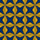 Bright blue yellow fashion seamless pattern Royalty Free Stock Photography