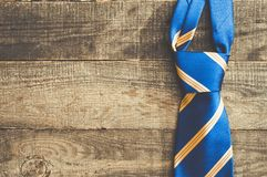 Bright blue yellow tie royalty free stock photo