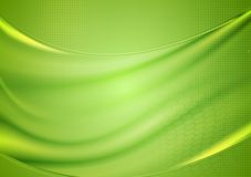 Bright blurred green waves design Stock Images