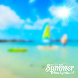 Bright blurred summer sea vector background Stock Images