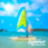 Bright blurred summer sea vector background Royalty Free Stock Photography