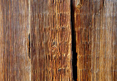Bright boards with knots and cracks Stock Image
