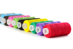 Bright bobbin thread Stock Photo