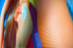 Bright body colors on LED screen Stock Photography