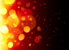 Bright bokeh effect fire abstract background Stock Photography