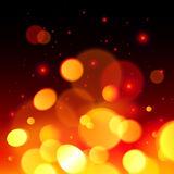 Bright bokeh effect fire  abstract background Royalty Free Stock Image
