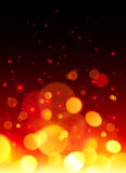 Bright bokeh effect fire  abstract background Royalty Free Stock Images