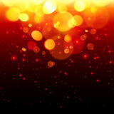 Bright bokeh effect fire  abstract background Stock Image