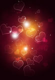 Bright Bokeh Hearts Stock Photography