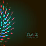 Bright bokeh shining flares Royalty Free Stock Photo