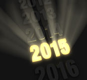 Bright Bold 2015 Stock Images