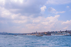 Bright Bosphorus landscape royalty free stock photos