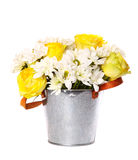 Bright bouquet of daisies and roses Royalty Free Stock Photography