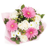Bright bouquet with gerberas Royalty Free Stock Image