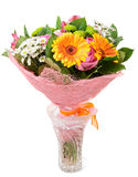 Bright Bouquet Isolated On White Royalty Free Stock Photography