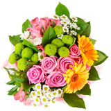 Bright bouquet isolated on white Stock Image