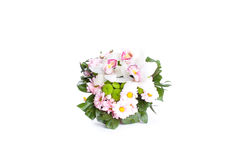 Bright bouquet shot from above, isolated on white Stock Image