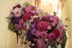 Bright bouquets indoor Stock Photography