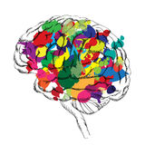 Bright Brain concept. Vector isolated. Royalty Free Stock Photo