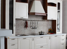 Bright brand new european kitchen Royalty Free Stock Photo