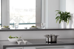 Bright brand new european kitchen Stock Image
