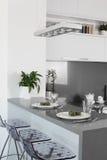 Bright brand new european kitchen Royalty Free Stock Photography