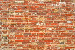 Bright brick. Old brick keeps the construction Royalty Free Stock Photography