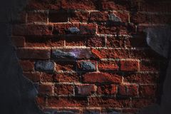 Bright brick. Old brick keeps the construction Royalty Free Stock Images