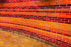 Bright brick wall in vivid colors Royalty Free Stock Photos