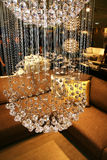 Bright brilliant chandelier Royalty Free Stock Images