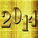 Bright brilliant numbers coming symbols  2014 year. Illustration Stock Image