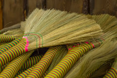 Bright brooms Stock Image