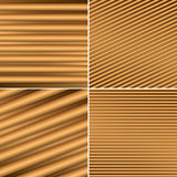 Bright brown vector backgrounds with parallel lines Royalty Free Stock Photos