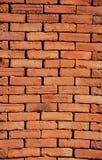 Bright brown vertical old brick texture. Bright brown vertical old brick Royalty Free Stock Photo
