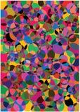 Bright bubbles background vector illustration