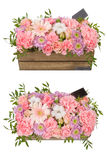 Bright buketny composition from fresh flowers, the white isolated background Stock Image