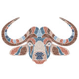 Bright bull portrait, zodiac Taurus sign Stock Photography