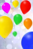 Bright bunch of colorful balloons Royalty Free Stock Images