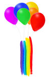 Bright bunch of colorful balloons Stock Images