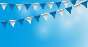 Bright buntings garlands with rhombus pattern, bunting festoon, background, Decorated in traditional colors of Bavaria. Vector illustration background, Decorated Stock Photo