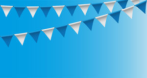 Bright buntings garlands with rhombus pattern, bunting festoon, background, Decorated in traditional colors of Bavaria. Vector illustration background, Decorated Stock Images