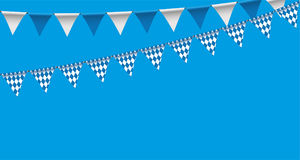 Bright buntings garlands with rhombus pattern, bunting festoon, background, Decorated in traditional colors of Bavaria Royalty Free Stock Images