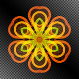 Bright Burning Stylized Flower of the Lines. Royalty Free Stock Photos