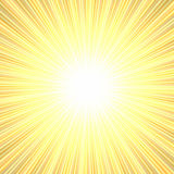 Bright burst. Yellow and orange bright burst of color rays with white in the middle Stock Photo
