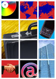 Bright business comp. A comp of various business items, bright, graphic and eye catching Stock Images