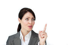 Bright businesswoman giving instructions Stock Photos