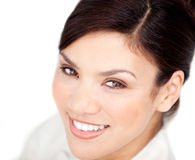 Bright businesswoman smiling at the camera Royalty Free Stock Photo