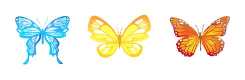 Bright butterfies set Royalty Free Illustration