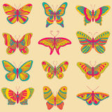 Bright butterflies Stock Images