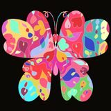 Bright butterfly with exquisite pattern.  Stock Photography